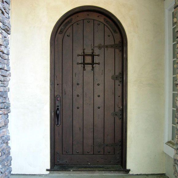 Arched Entry Door With Speakeasy Doors Gates Pinterest