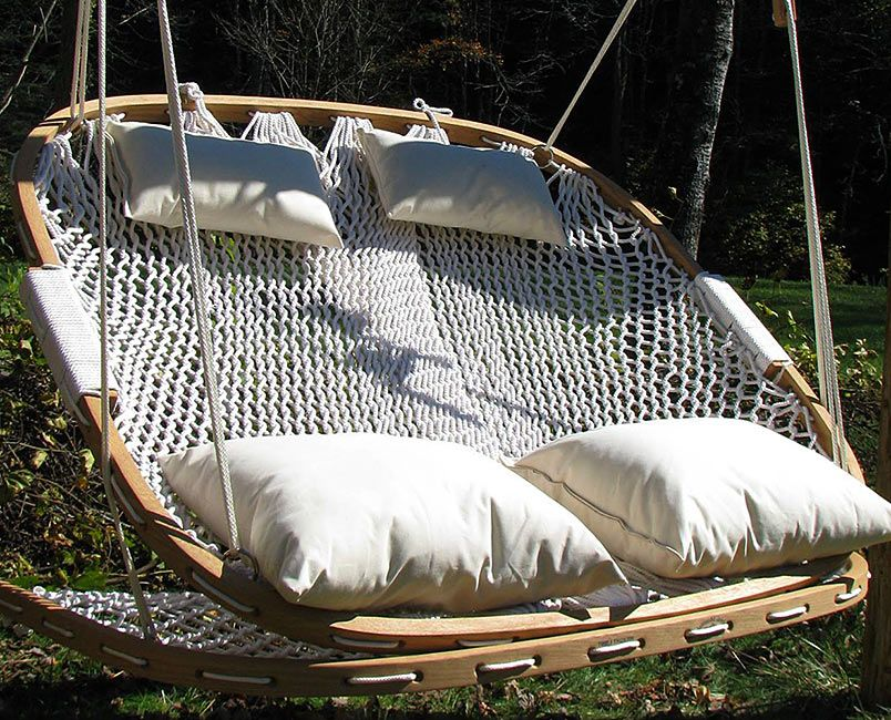 Have To Have It Island Bay Rope Double Hammock Swing 94 01