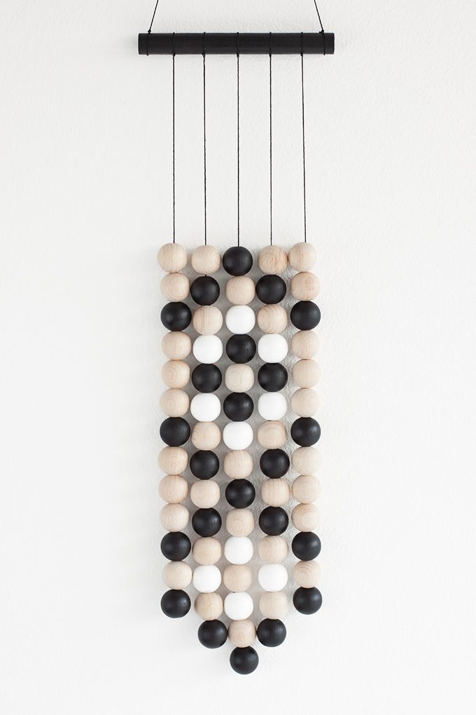 Wooden Bead Wall Hanging Wooden Crafts Diy Wooden Wall Hangings Hanging Wall Decor