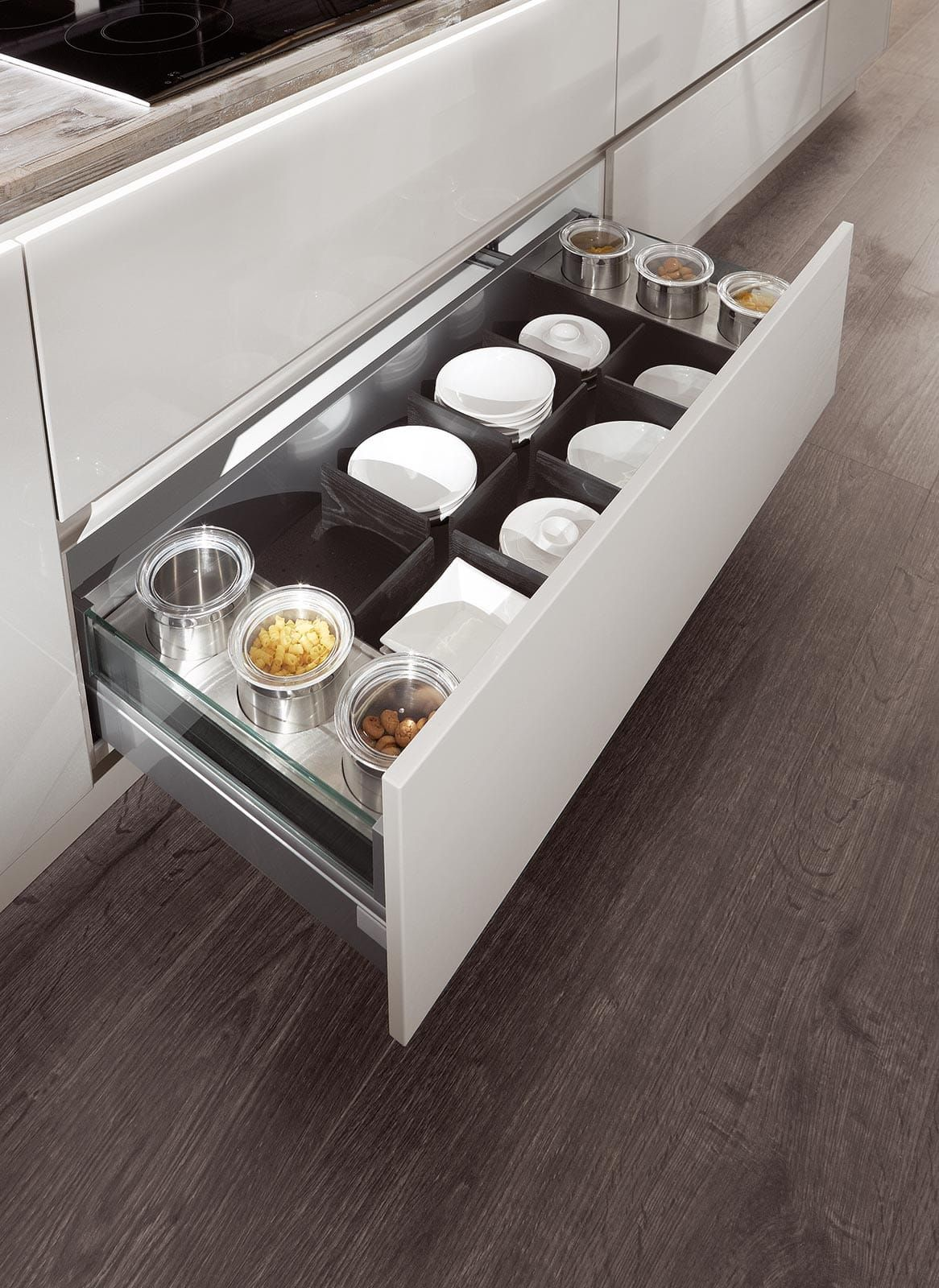 unterschrank einbauküche hochglanz weiß norina 9555 | Design ...