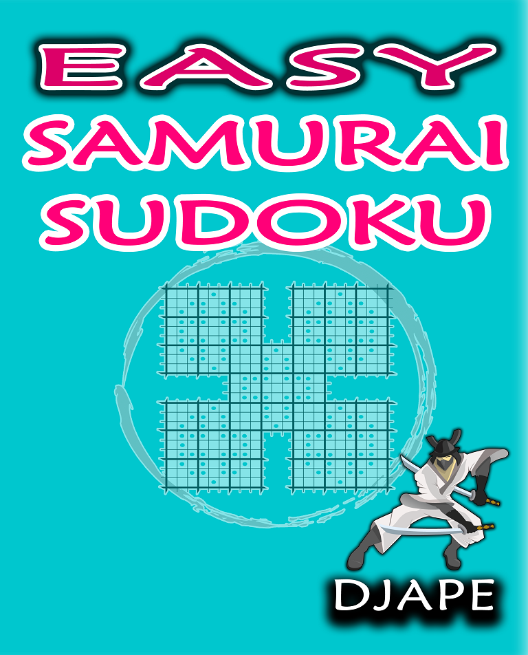 Just EASY Samurai puzzles  http://www.amazon.com/dp/1518657575/?tag=thehomeofperf-20
