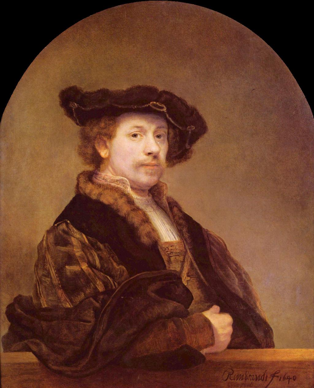 Rembrandt Harmensz van Rijn - Self-Portrait, 1640