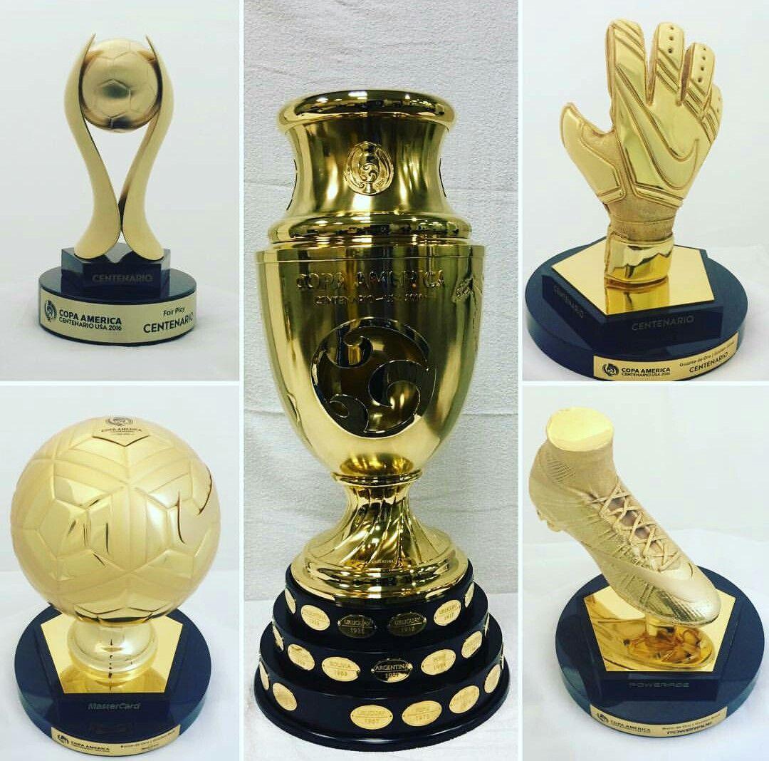 Copa America Centinarion Trophy Golden Boot Golden Glove Golden Ball Fair Player Award Copas De Futbol Estadisticas Futbol Copa America