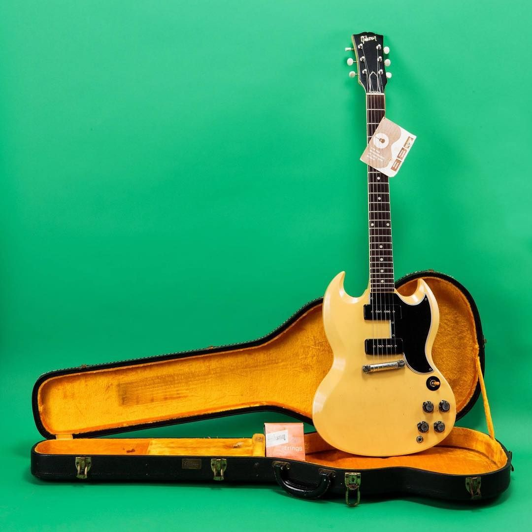 Vintage Rare On Instagram From Us Seller Jay Rosen On V R Very Cool 1961 Gibson Sg Special In Tv Yellow You Can List With Us Too Musica