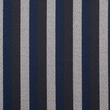 Marc Jacobs Black/Navy/Grey Striped Polyester Crepe