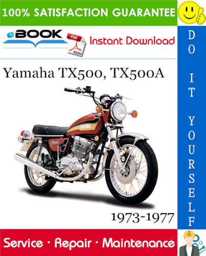 Yamaha Tx500 Tx500a Motorcycle Service Repair Manual 1973 1977 Download Repair Manuals Yamaha Repair
