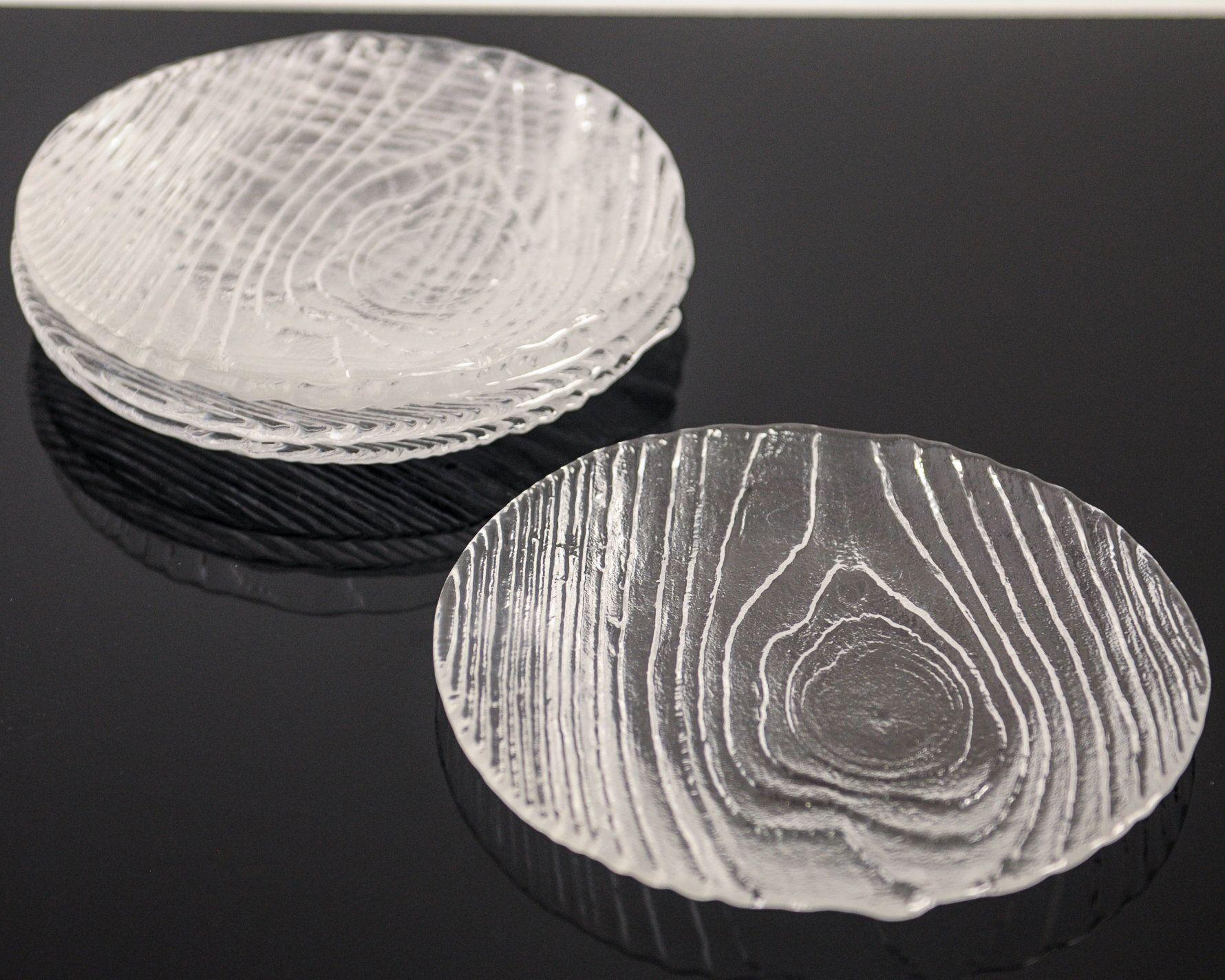 Mid Century Swedish Glass Plates Bengt Edenfalk Drivved Driftwood Swedish Modern Scandinavian Style Set Of 5 Glass Plates Scandinavian Style Plates