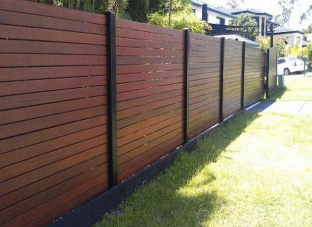 Plain And Simple Horizontal Fence Diy Privacy Fence Fence