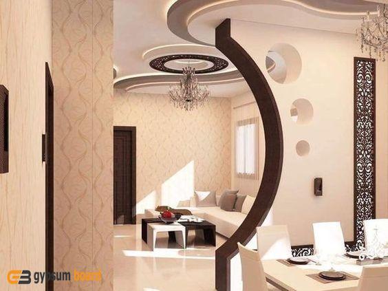 فواصل صالات جبس بورد2019 جبس بورد Living Room Partition Design Home Room Design Table Decor Living Room