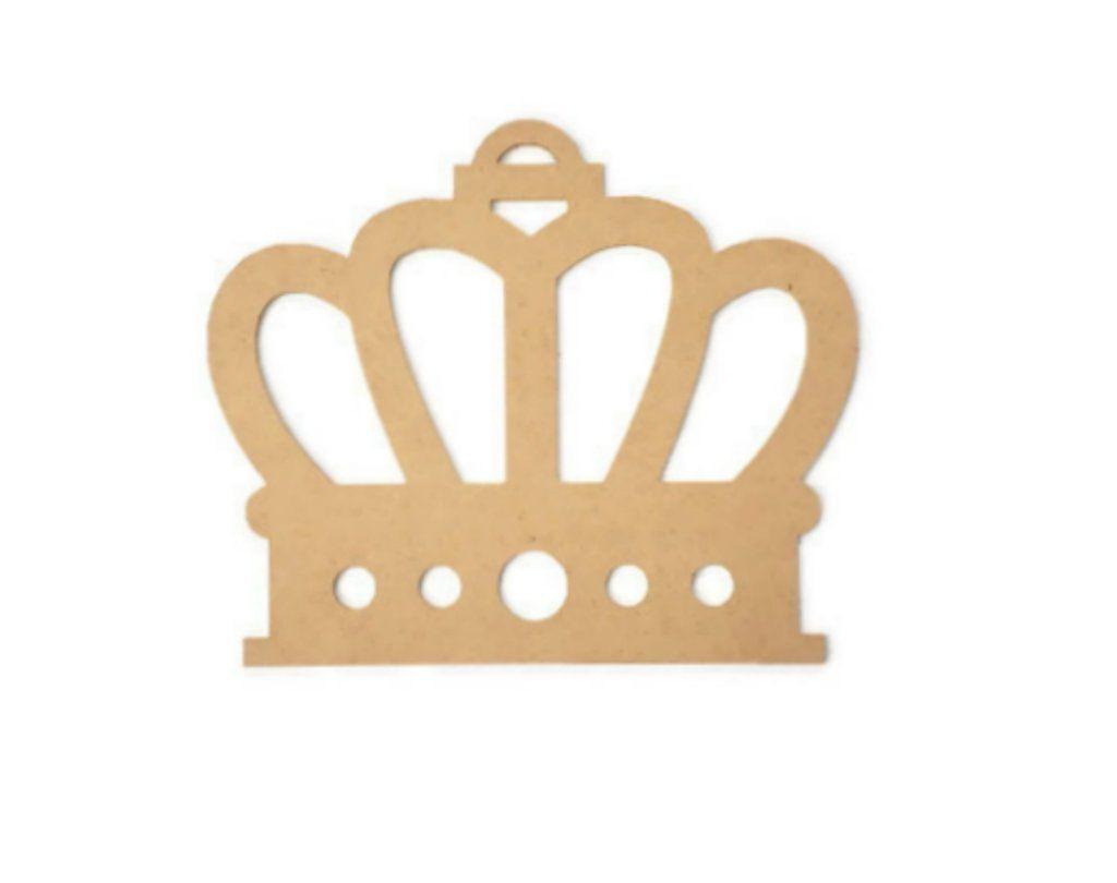 Royal Crown Shape Wood Cutout - Unfinished Wood | Unfinished