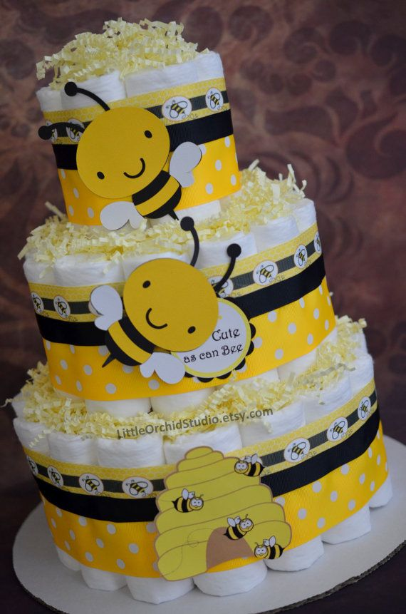 Bumble Bee Diaper Cake Neutral Diaper Cake Mommy To Bee
