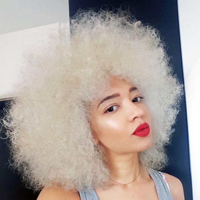 d colorer ses cheveux afro naturels en blond platine je vous dis tout cheveux afro blog. Black Bedroom Furniture Sets. Home Design Ideas