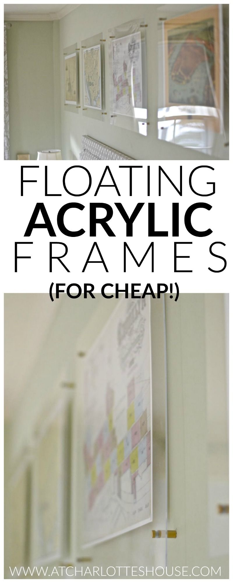 Budget Floating Acrylic Frame | Acrylic frames, Budgeting and Acrylics