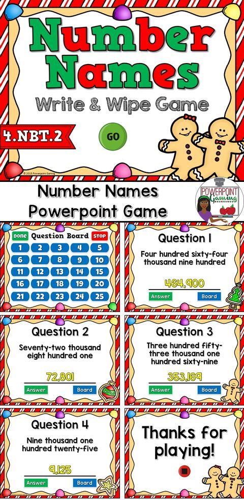 Naming Numbers Place Value Powerpoint Game Standard Form Students
