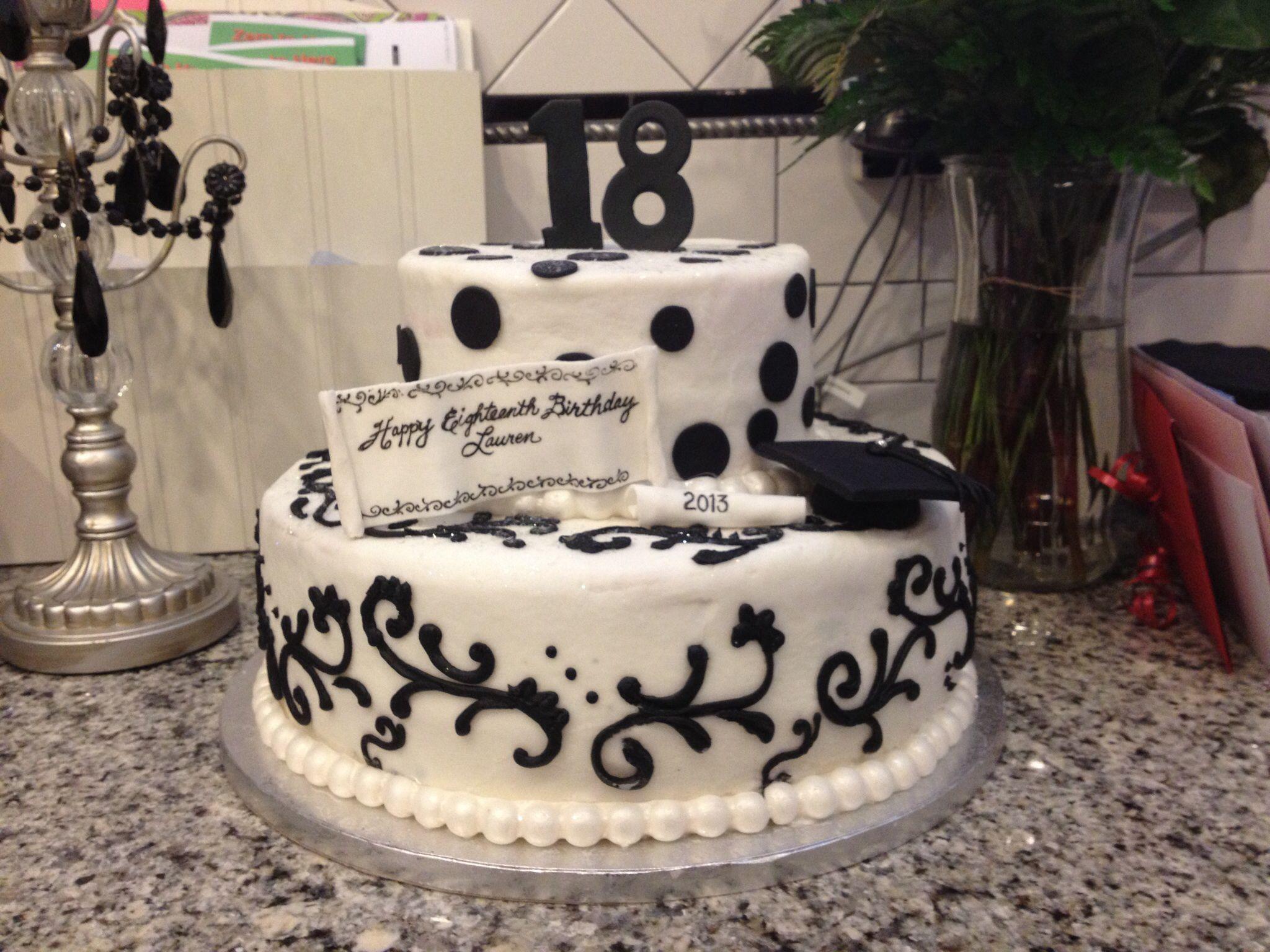 Fine Cake Celebrating 18Th Birthday And Graduation From High School Personalised Birthday Cards Akebfashionlily Jamesorg