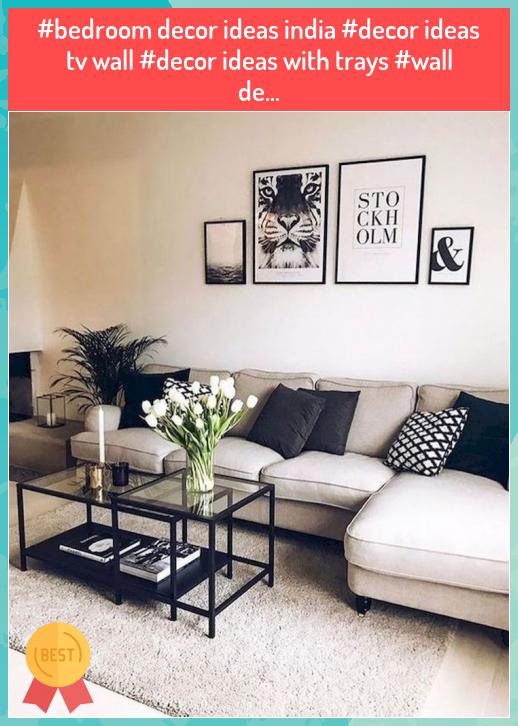 Bedroom Decor Ideas India Decor Ideas Tv Wall Decor Ideas With Trays Wall De In 2020 Small Living Room Design Grey Wallpaper Living Room Classic Home Furniture #wall #decor #for #living #room #india