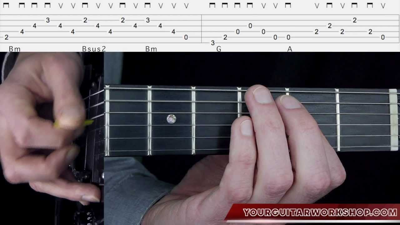 Guitar Lesson: Here Without You 1/3 - 3 Doors Down - How to play Intro&V...