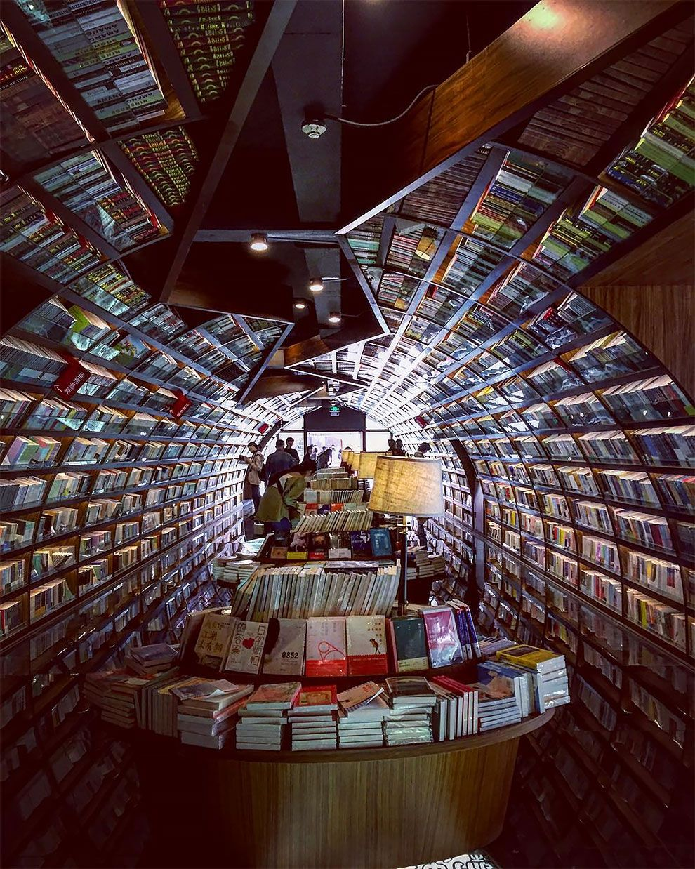 This Infinity Book Store Looks Like An Endless Tunnel Of Books