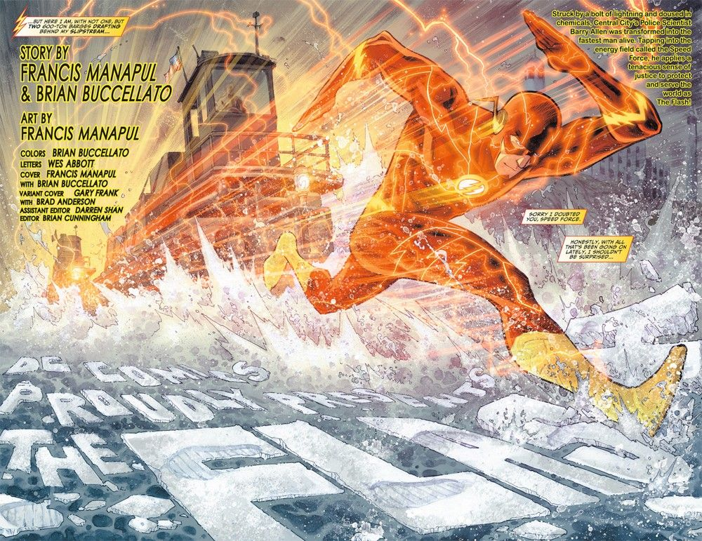 The Flash Title Page by Francis Manapul and Brian Buccellato // #comics #new52