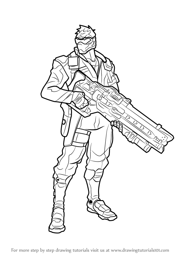 Learn How to Draw Soldier 76 from Overwatch (Overwatch
