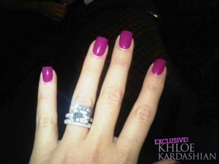 Khloe kardashian nails!!! Love that ring too! | FABULOUS NAILS ...