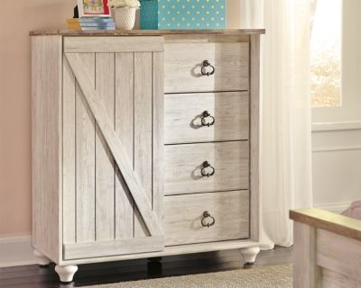 Willowton Dressing Chest By Ashley Homestore Whitewash Furniture Bedroom Makeover Before After Leather Furniture