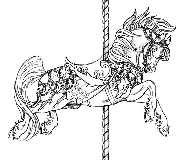Carousel Horse Coloring Pages Horse Coloring Pages Horse