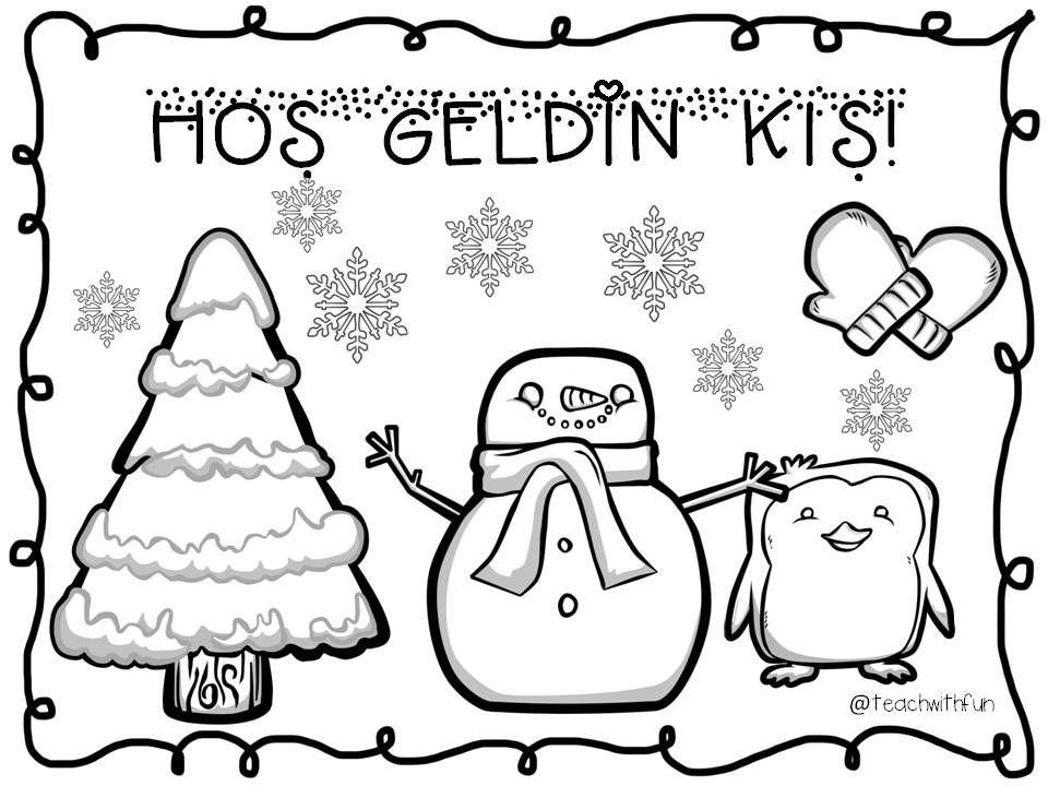 Hos Geldin Kis Welcome Winter Boyama Kitaplari Kis Faaliyetler