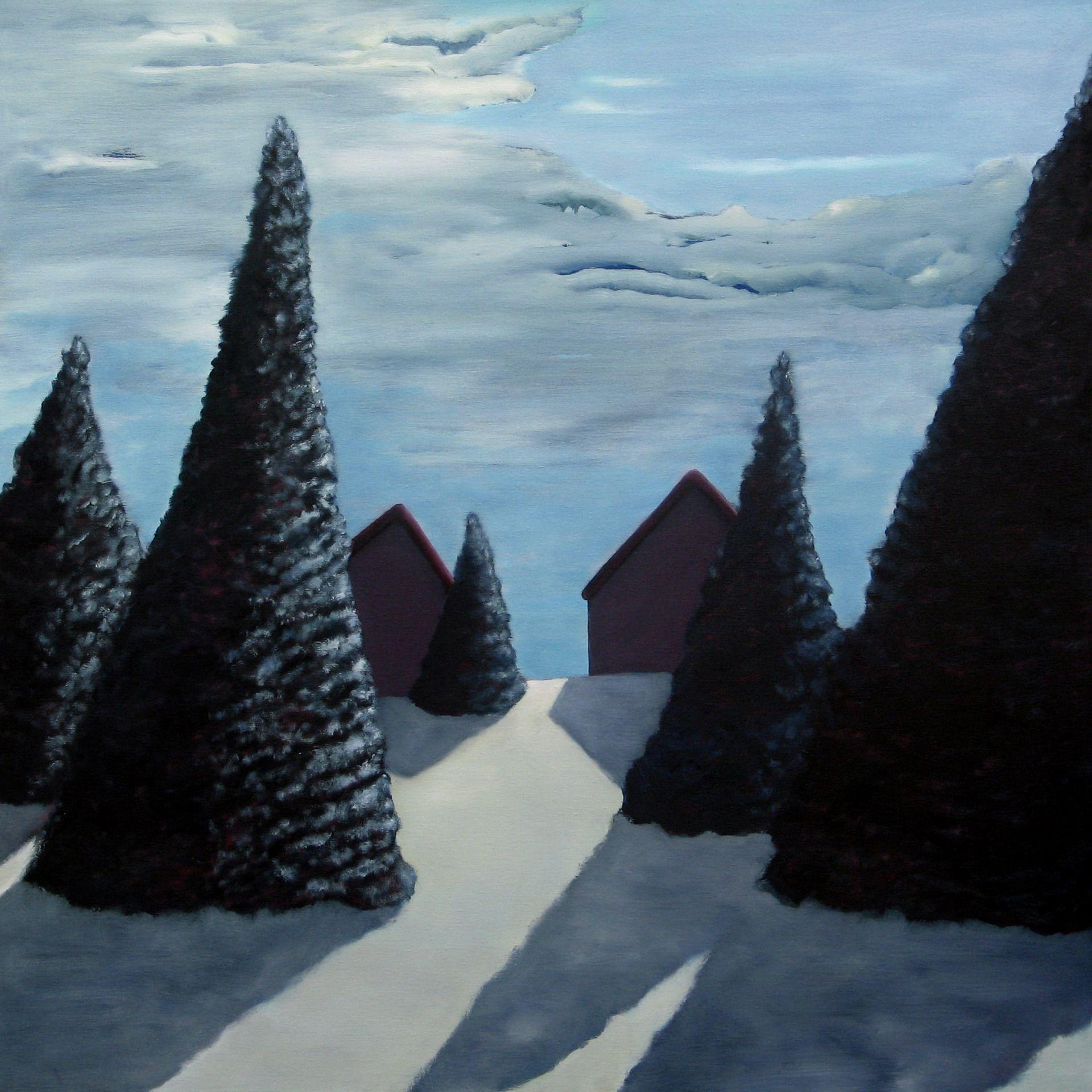 "Saatchi Art Artist: Ad van Riel; Oil 2004 Painting ""Residence"" 39.4 H x 39.4 W, $2600"