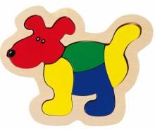 Vkladacie puzzle Pes - Puzzle pre najmenších - Puzzle - Hry a puzzle - Hračky a Detský nábytok- Detský Sen - Maxus