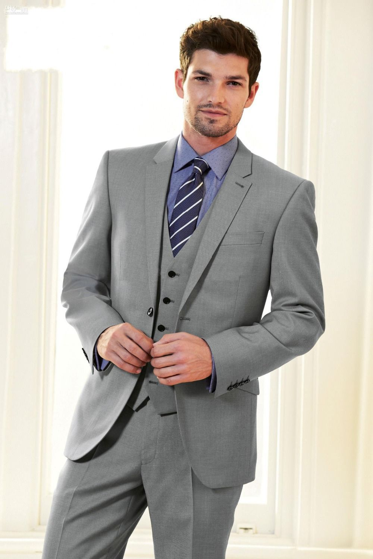 Click to Buy << 2017 Latest Coat Pant Designs Smoking Grey Men ...
