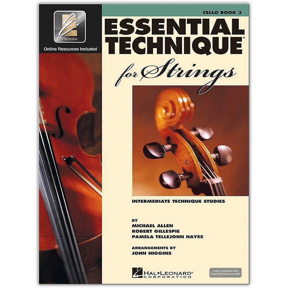 Hal Leonard Essential Technique For Strings Cello 3 Book Online