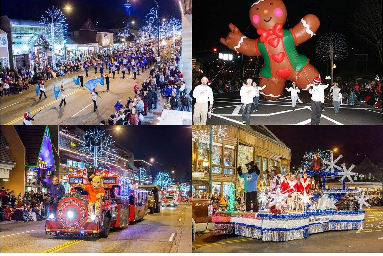 Gatlinburg Christmas Parade.Scenes From The Annual Fantasy Of Lights Christmas Parade In