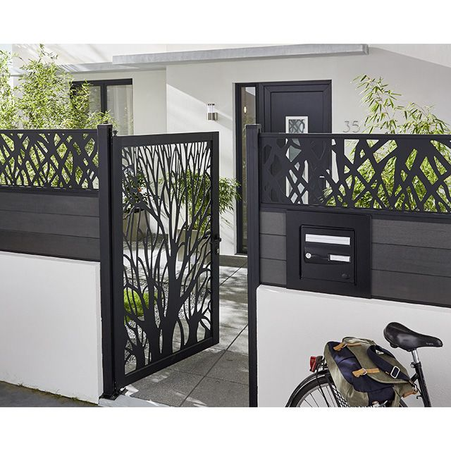 Portillon d coratif arbre idaho castorama entr e for Portillon jardin metal