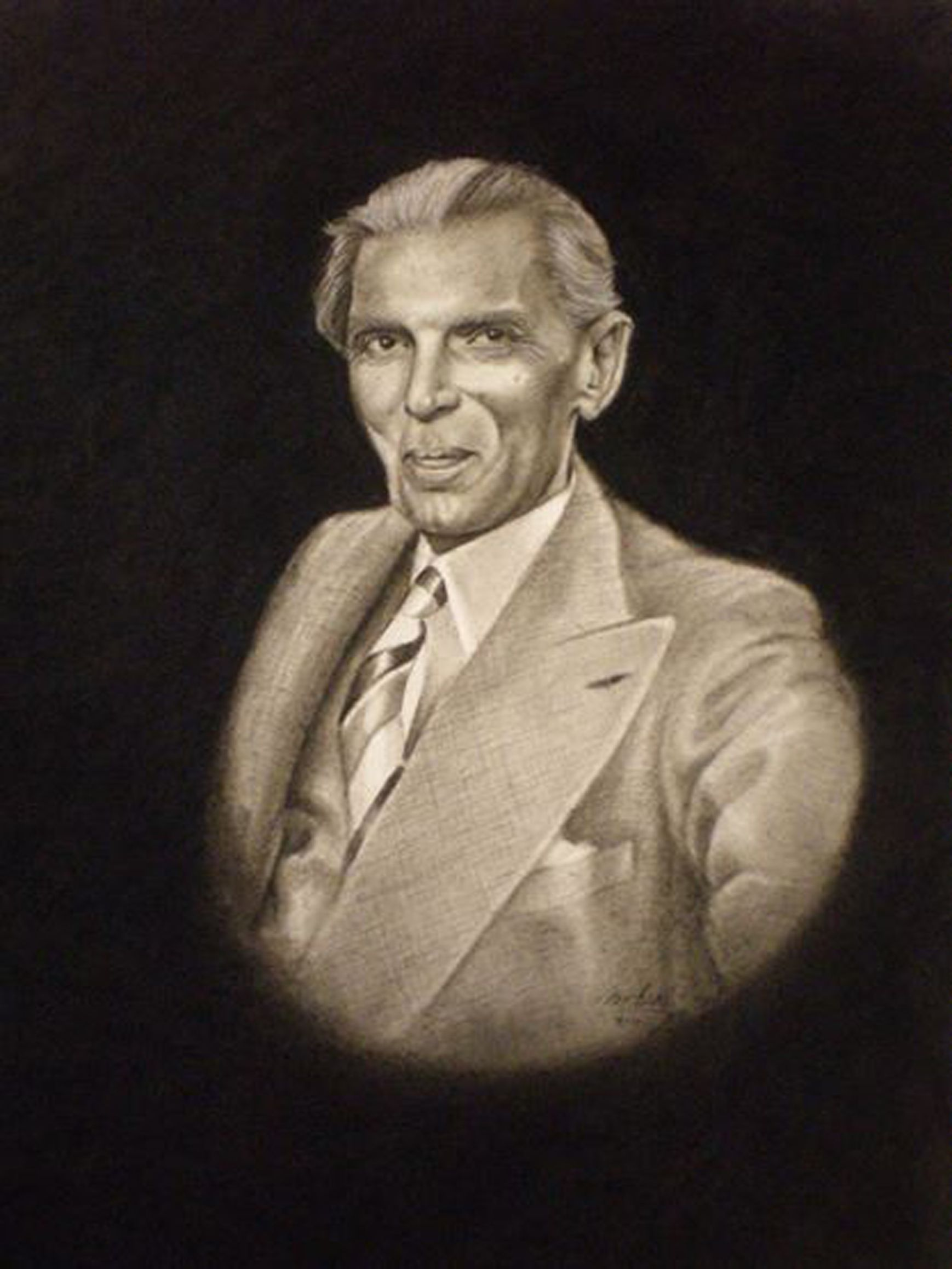 Quaid e azam charcoal on paper sold graphite pencil drawings