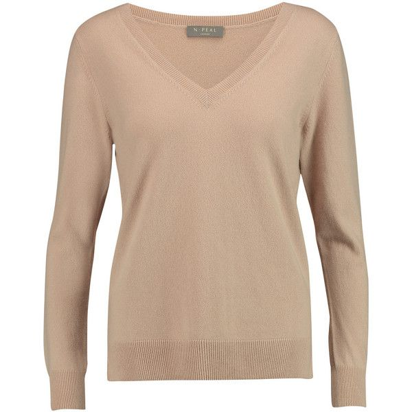 N.Peal Cashmere Boyfriend cashmere sweater ($152) ❤ liked on ...