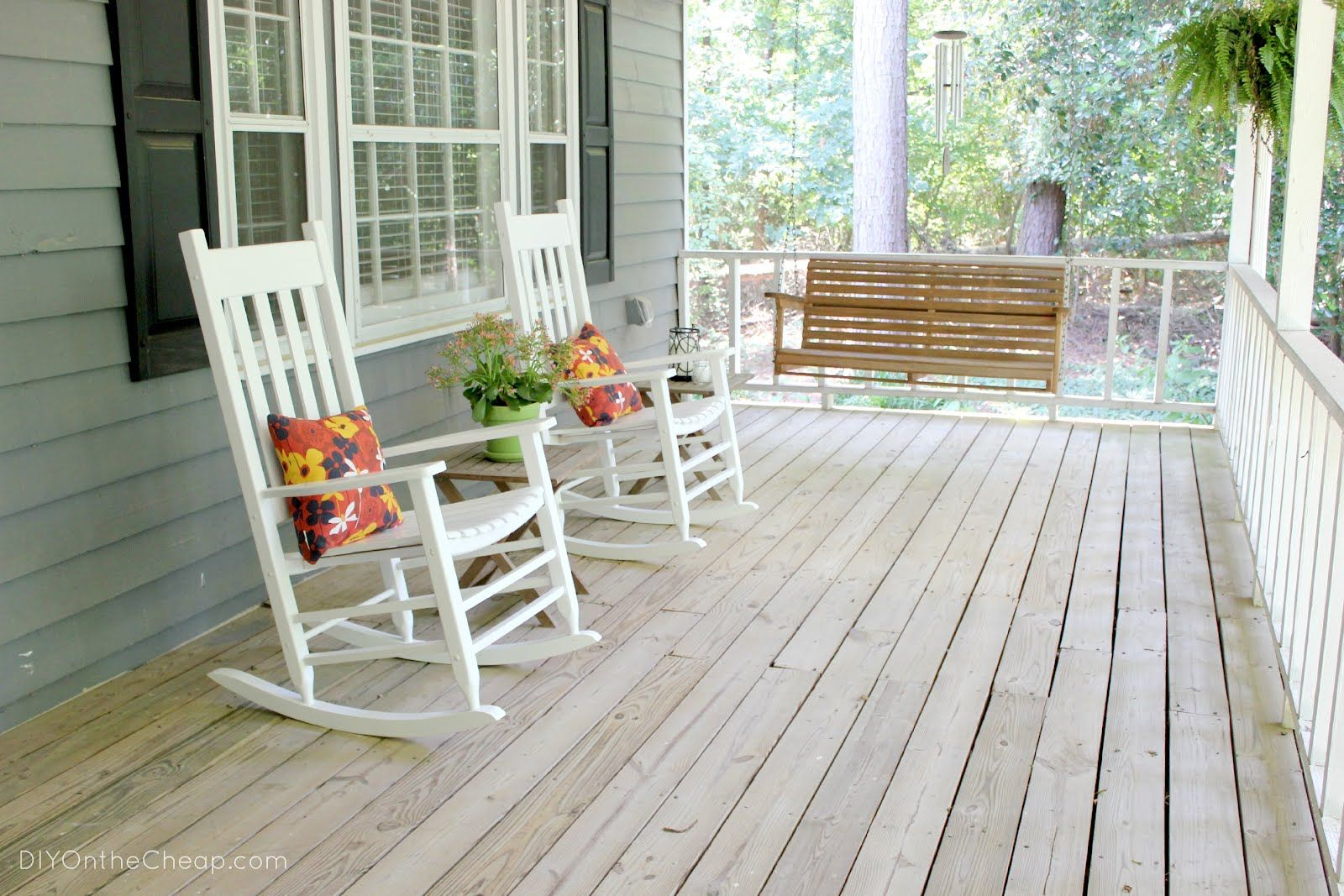Elegant Decorating Front Porches With Rocking Chairs | ... Really Need To Clean The  Front Door. Itu0027s Coated In Pollen. Yuck