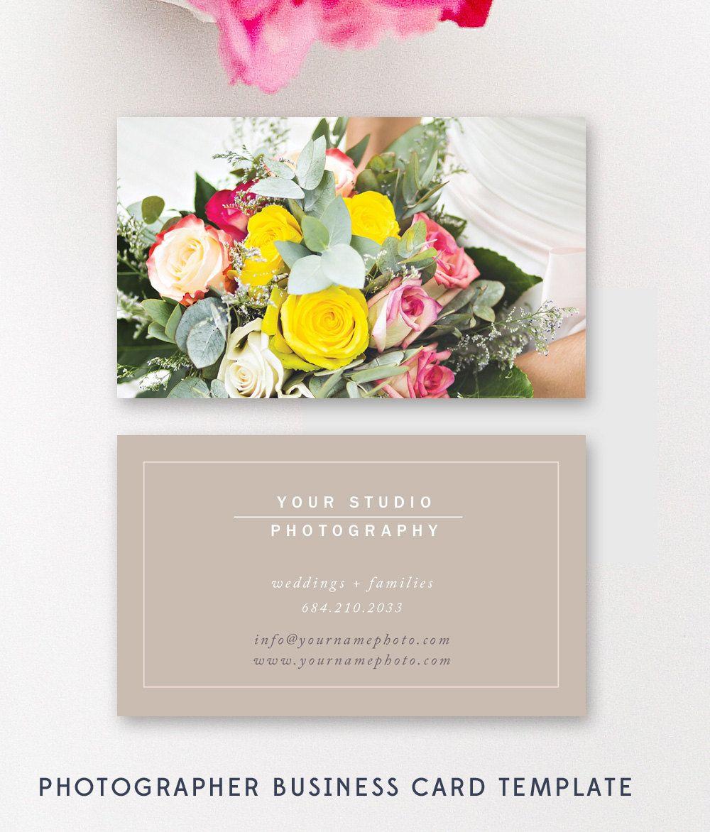 Wedding Photographer Business Card Template, Modern Business Card ...