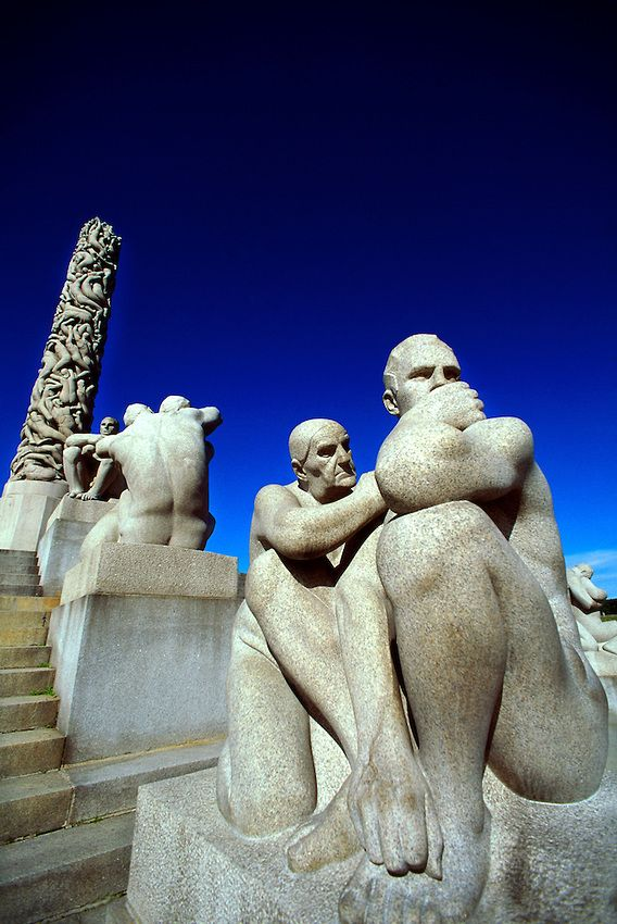 """""""The Monolith"""", Vigeland Sculpture Park, Frogner Park, Oslo, Norway - One of the few countries in Europe that I've never visited. But some day..."""
