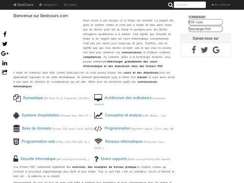 Ce Site Regroupe De Nombreux Supports De Cours Informatique Portant Sur Divers Domaines Reseau Informatique Programmation Informatique Formation Informatique