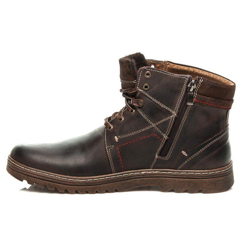 Trekkingowe Meskie Lucca Brazowe Zimowe Buty Meskie Lucca Boots Chukka Boots Shoes
