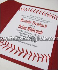 baseball wedding invitations google search - Baseball Wedding Invitations