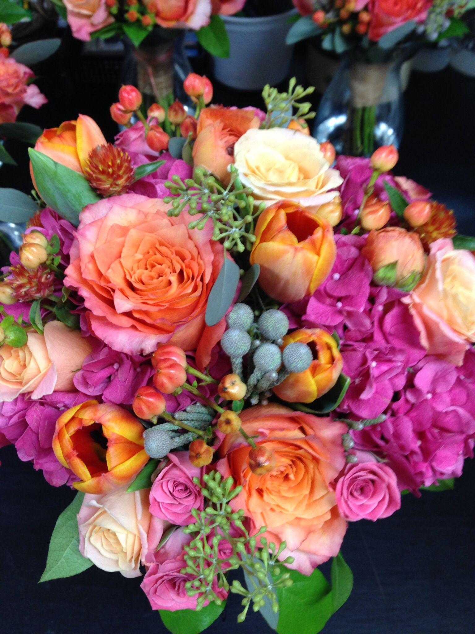 """Free Spirit"" roses at their best, by Deb Scott Bride"