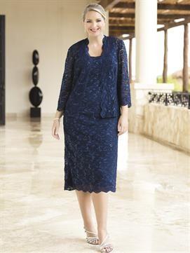 Plus Size Sapphire Sparkle Jacket Dress Plus Size Ivory Dresses Ulla Popken Flattering Fashion
