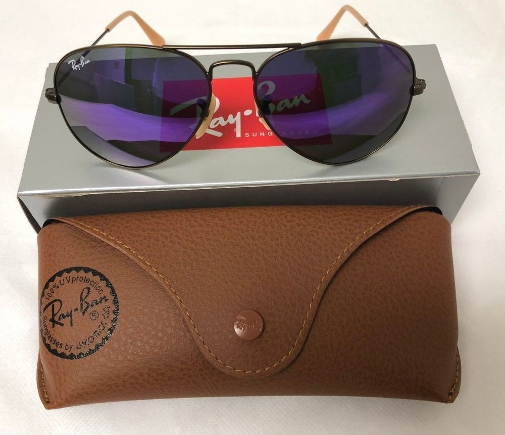 bab30bfe9d930 Ray-Ban Aviator RB3025 Violet Mirror Lenses Bronze-Copper Frame 167 1M 55mm   fashion  clothing  shoes  accessories  unisexclothingshoesaccs ...