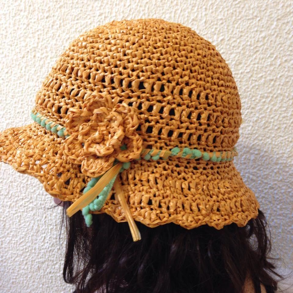 sombrero_rafia_crochet | crochet | Pinterest | Gorros, Cadeneta y ...