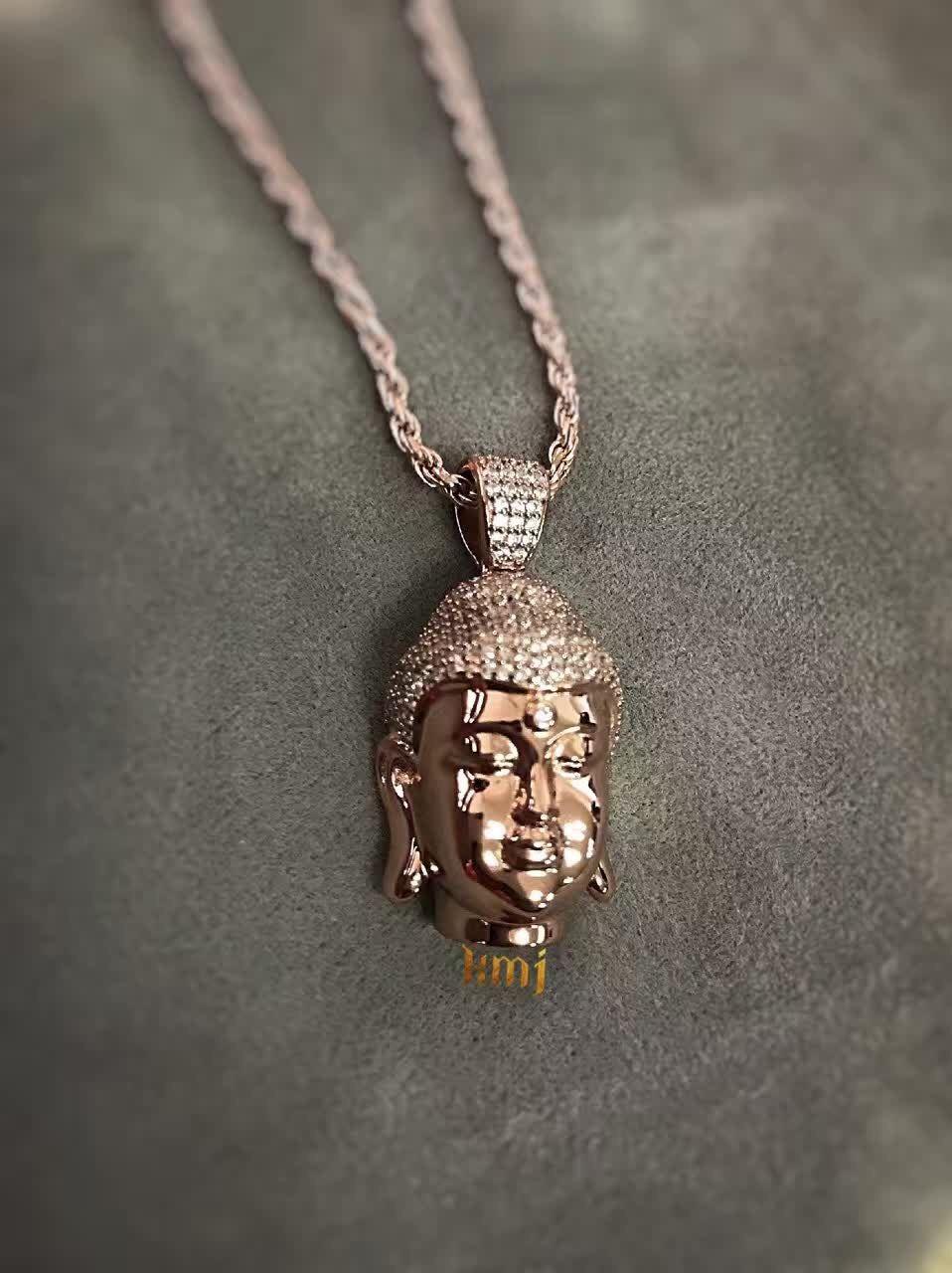 Buddha Head In Rose Gold Custom Made Bijouteriegonin Com Bijouteriegonin Jesuspiece Microjesus Babyjesus Nanojesus Redjesus Kanyewest Thegame