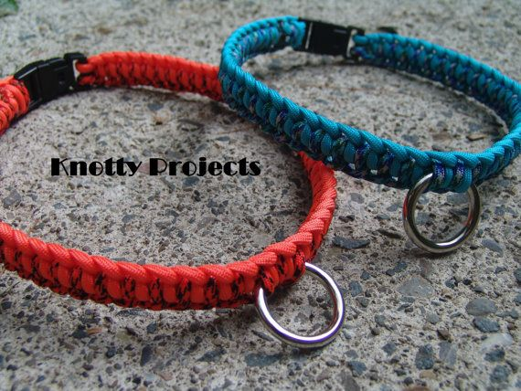 half hitch paracord collars by knottyprojects on Etsy
