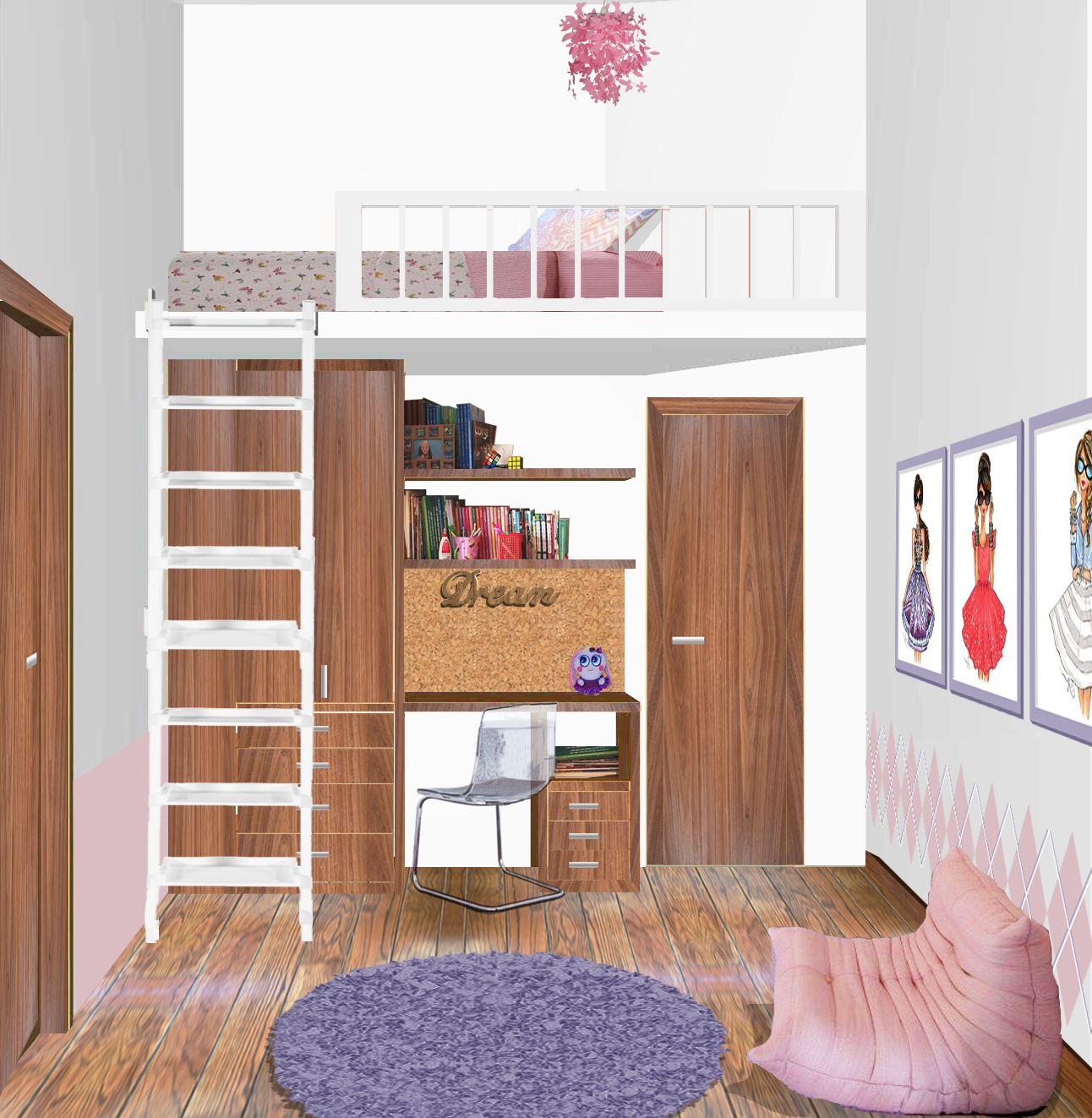 Dise o de recamara en espacio peque o small space design Recamaras para ninos en espacios pequenos