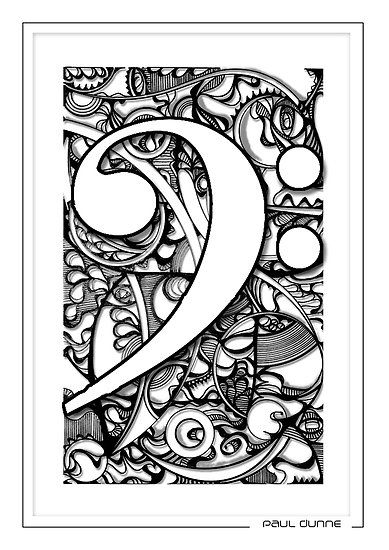 Bass Clef Doodle By Paul Dunne With Images Zene